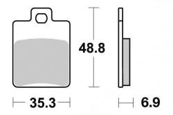 Plaquette de frein carré 1 fixation