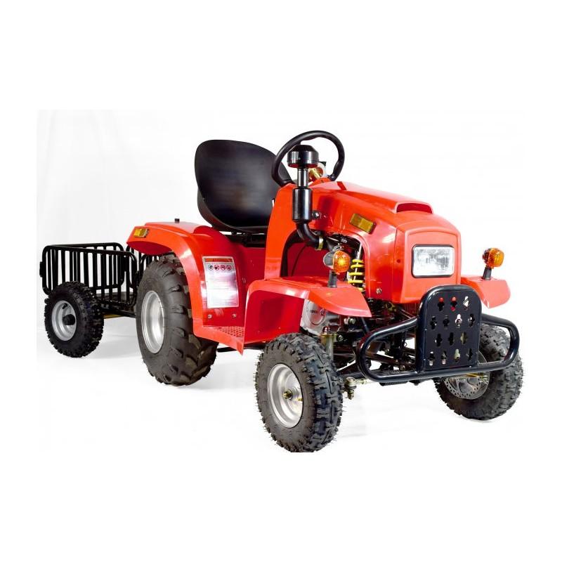 Tracteur enfant 110cc avec remorque quads motos familly - Remorque tracteur enfant ...