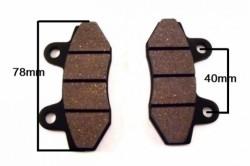 Plaquette de frein avant / arrière scooter